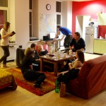 Common Room, Cinnamon Sally Backpackers Hostel, Riga, Latvia