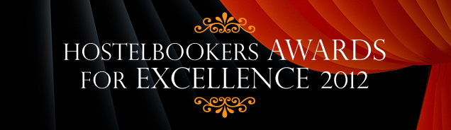HostelBookers award for Excellence for 2012 for Cinnamon Sally Backpackers Hostel